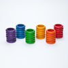 Coloured Rings - 36 pieces in 6 Rainbow Colours by Grapat Organic Cotton Toddler Kids Clothes from Modern Rascals