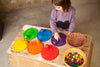 Coloured Dishes - 6 pieces in 6 Rainbow Colours by Grapat Organic Cotton Toddler Kids Clothes from Modern Rascals