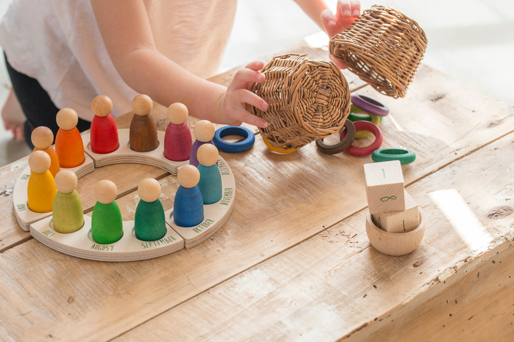 Coloured Rings - 12 pieces by Grapat Organic Cotton Toddler Kids Clothes from Modern Rascals