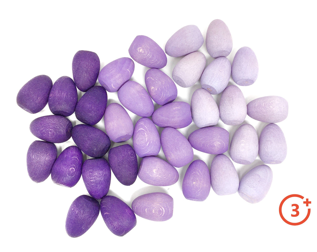 Mandala Mini Eggs - 36 pieces in Purples