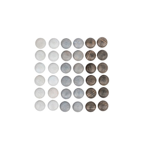 Mandala Mini Stones - 36 pieces in Grey