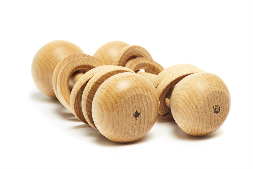 Wooden Baby Rattle (Ontario Maple)