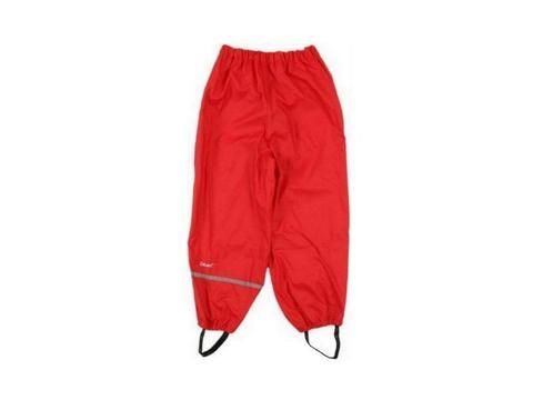 Rain Pants - Elastic Waist - Red
