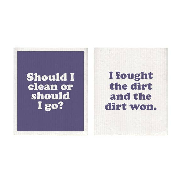 London Calling Swedish Dishcloths Set of 2