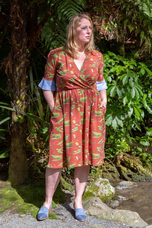 Adult's Billie in the Billabong Coco Flare Dress with Pockets