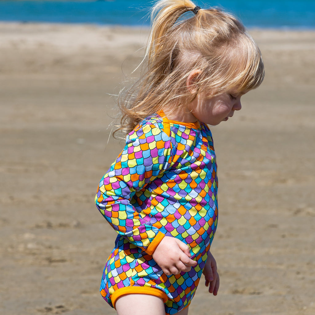 Rainbow Scales Long Sleeve Onesie