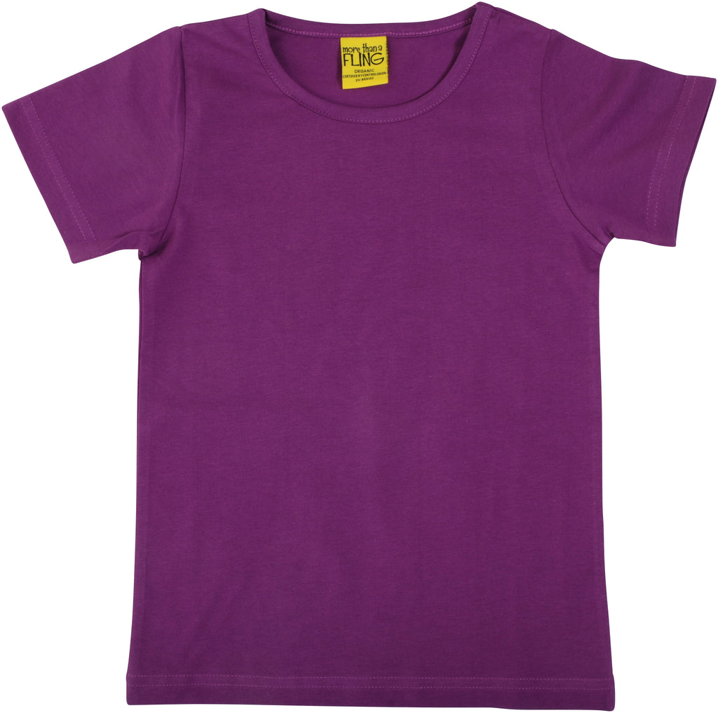 Adult's Bright Violet Short Sleeve Shirt