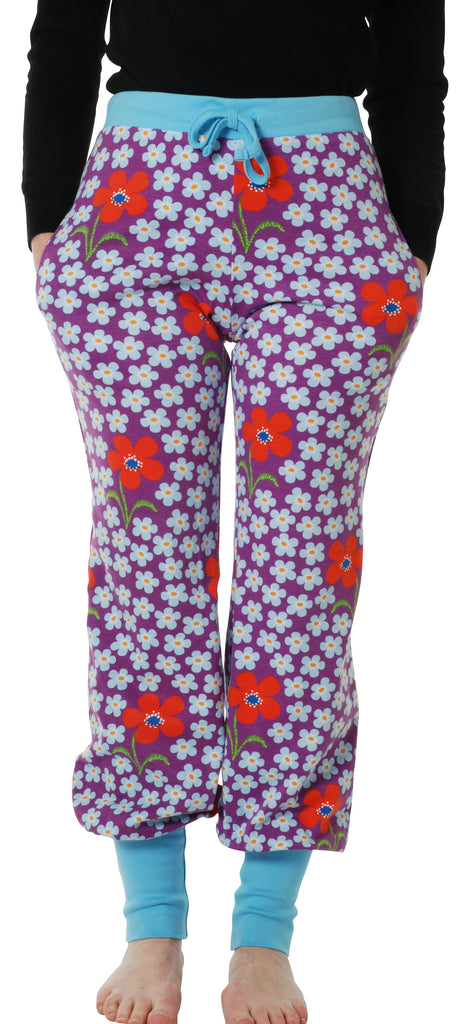 Adult's Flower Orchid Baggy Pants