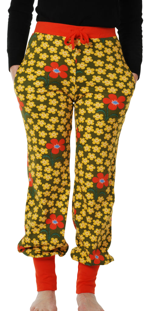 Adult's Flower Olive Baggy Pants