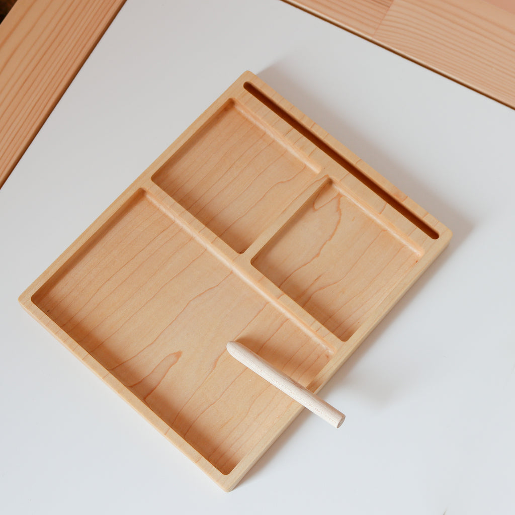 3 Part Tray with Card Holder