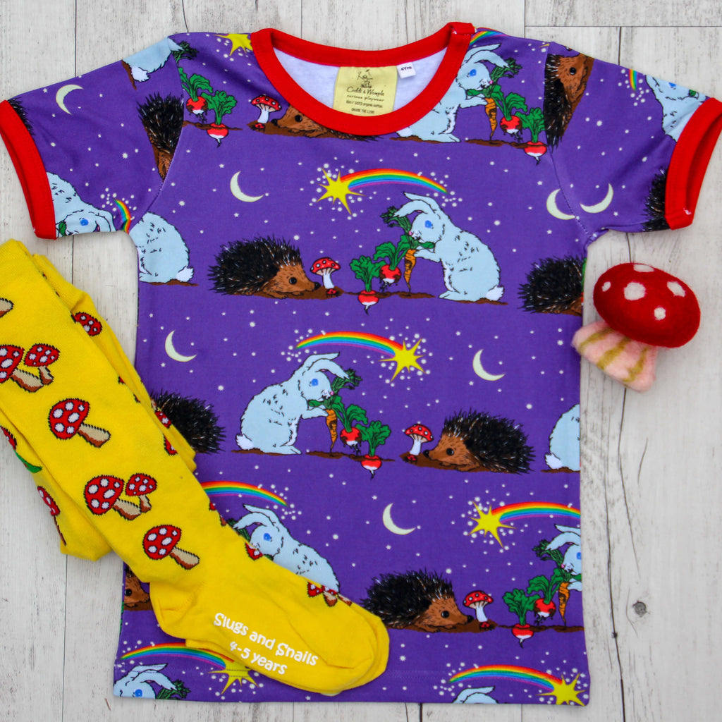 Thistle and the Moon Short Sleeve Shirt - 2 Left Size 6-12 months