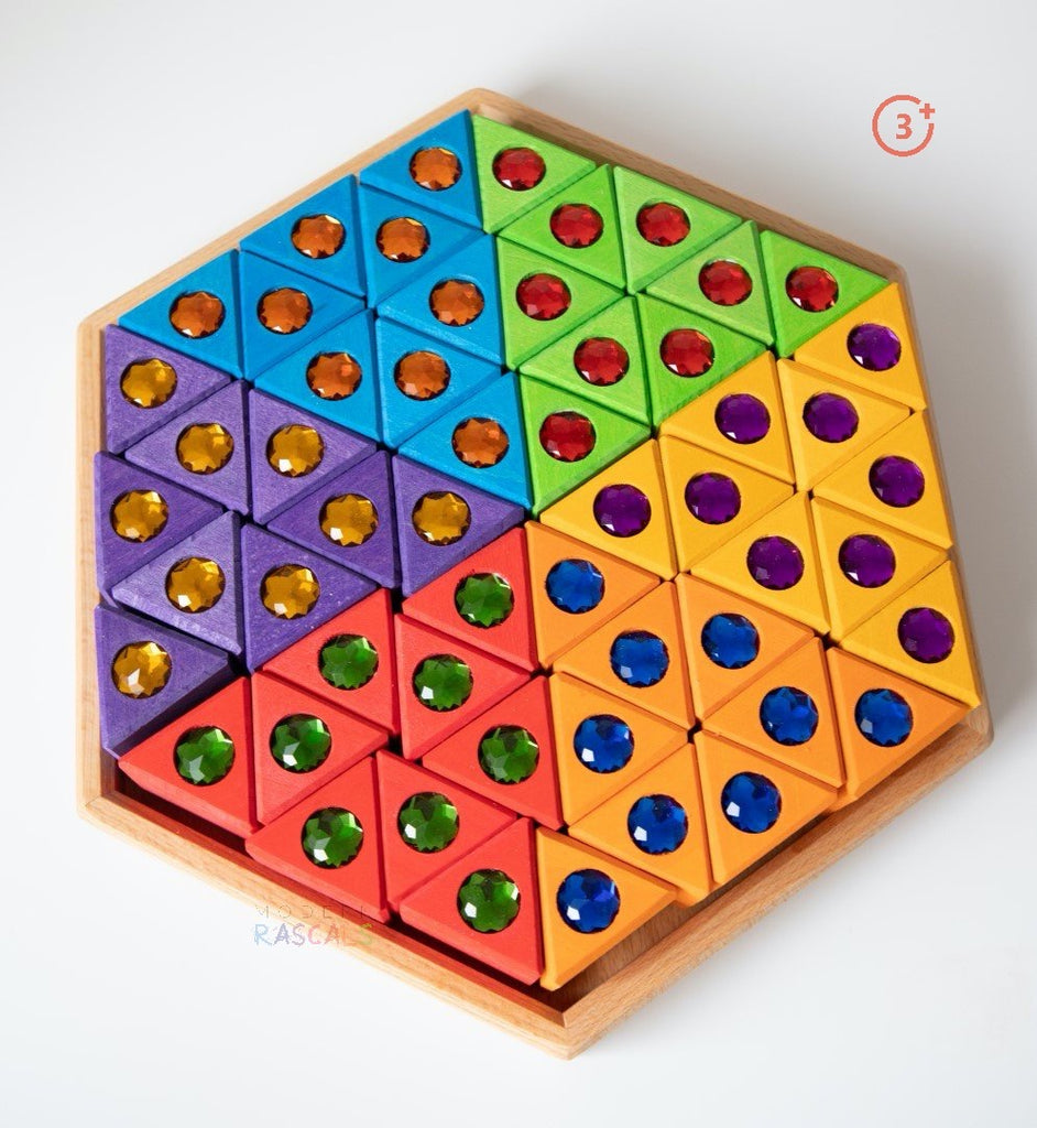 Coloured Triangles - 54 pieces