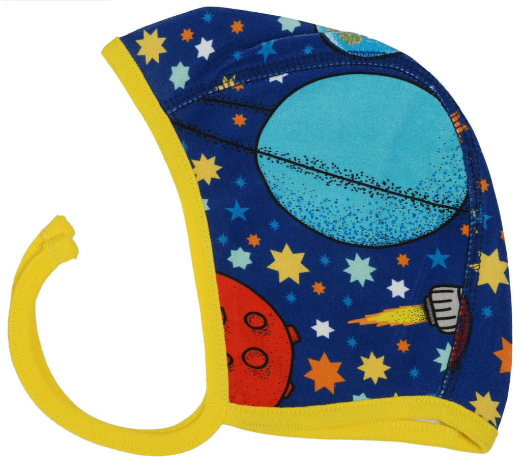 Space in Navy Baby Hat
