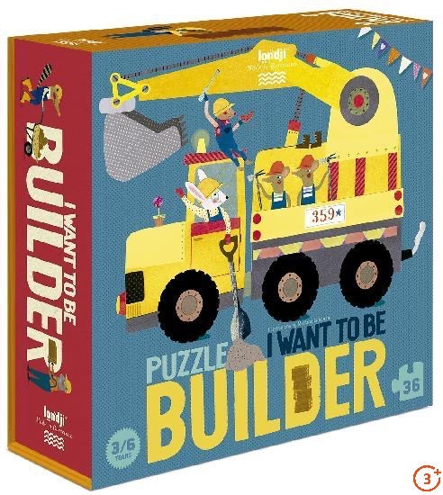 I Want to be a Builder Puzzle - 36 pieces