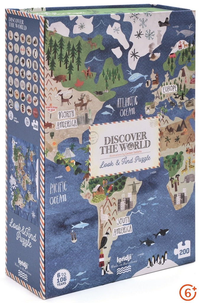 Discover the World Puzzle - 200 pieces