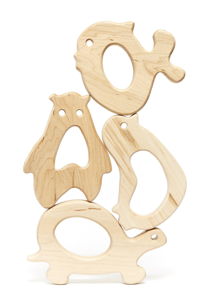 Wooden Stacking Animal Teethers