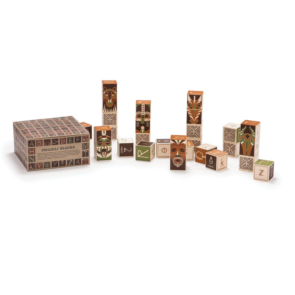 Swahili Alphabet Blocks