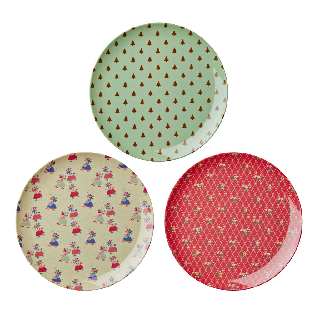 Christmas Side Plates by Rice Organic Cotton Toddler Kids Clothes from Modern Rascals