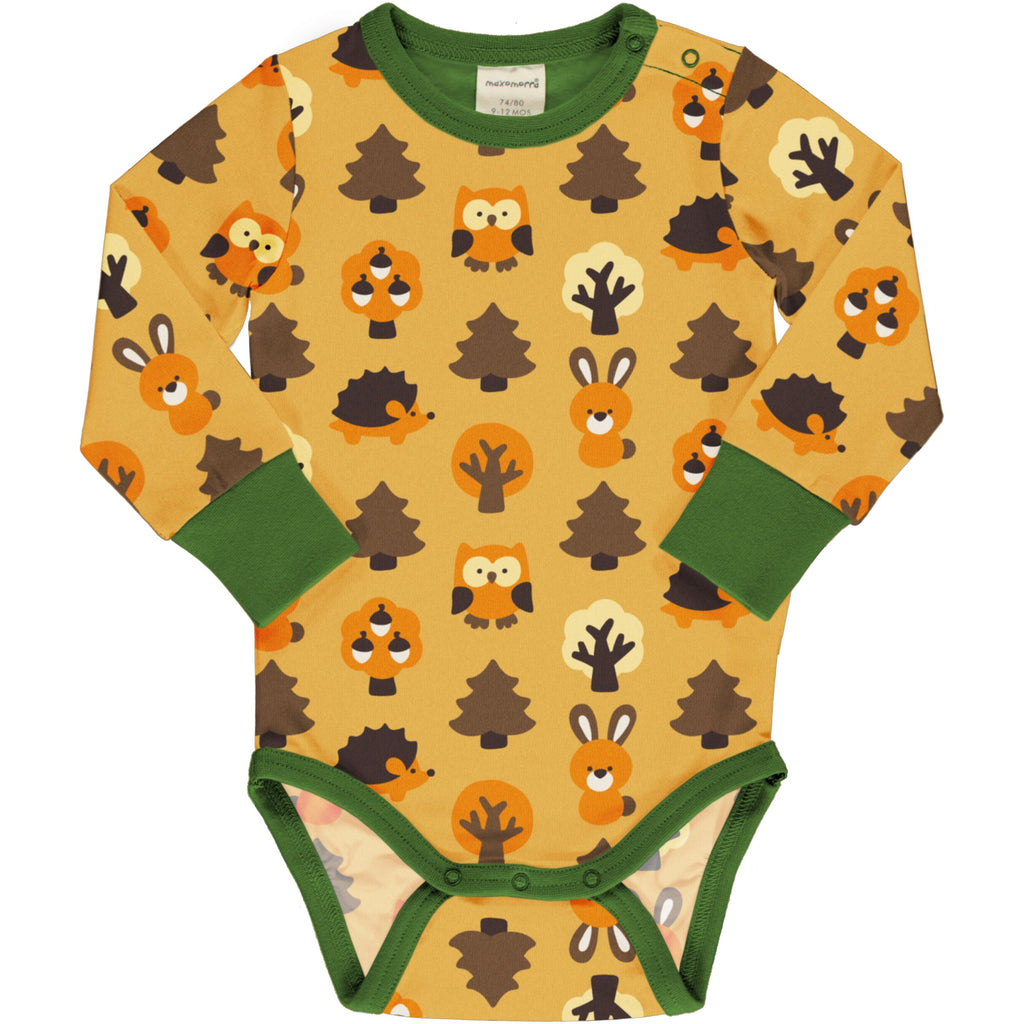Yellow Forest Long Sleeve Onesie
