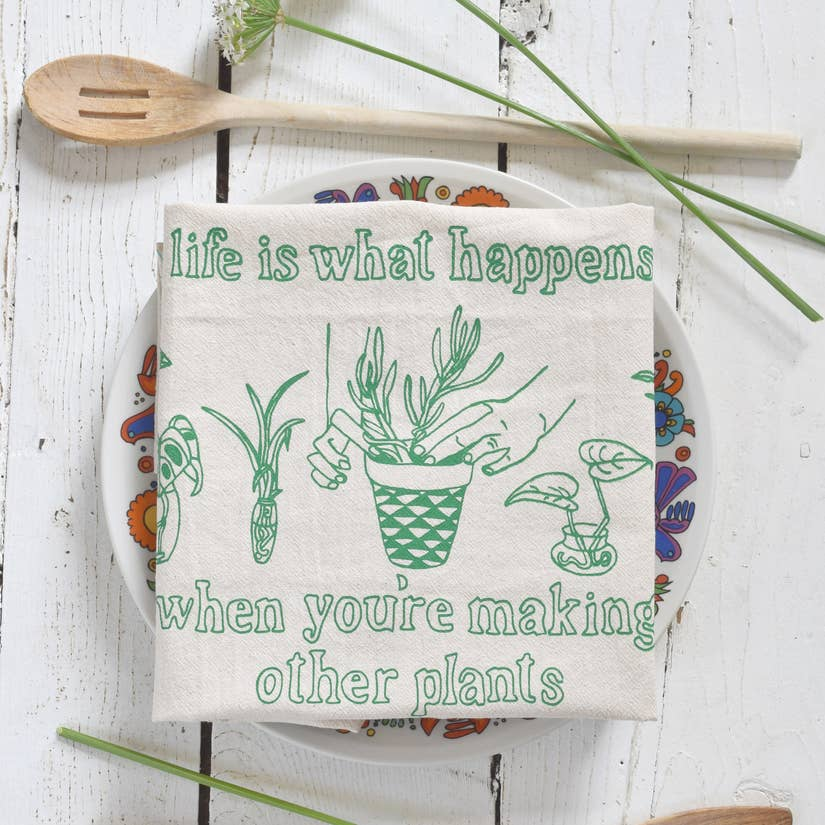 Plants Tea Towel - Green