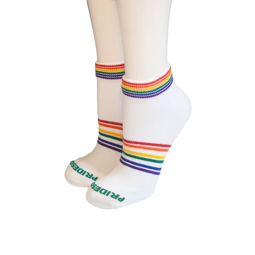 Adult Athletic Socks - Shorty Rainbow (Medium)