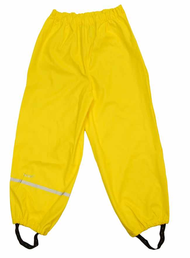 Rain Pants - Elastic Waist - Yellow