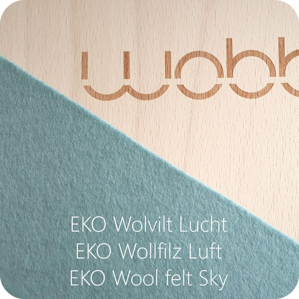 Original Wobbel Board with Sky Wool Felt