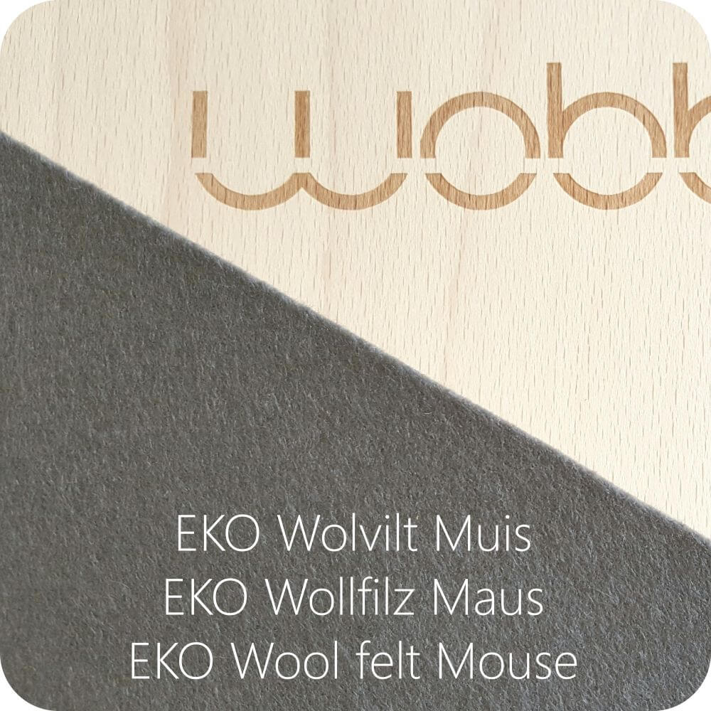 Original Wobbel Board with Mouse Wool Felt