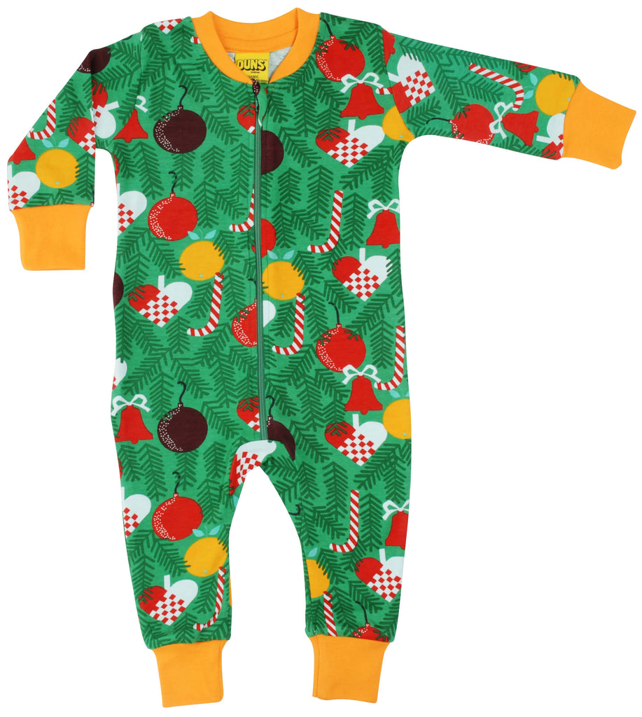 Green Christmas Zippersuit