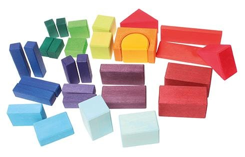Geometric Classic Building Blocks - 30 piece