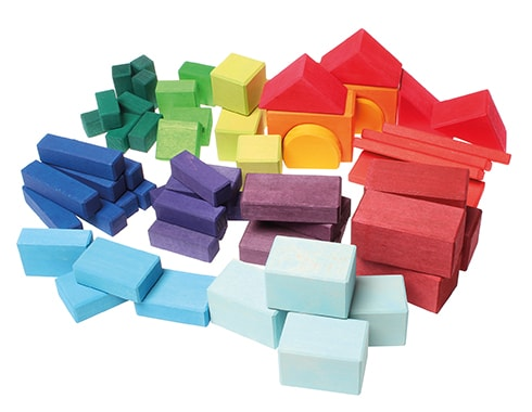 Geometric Classic Building Blocks - 60 piece