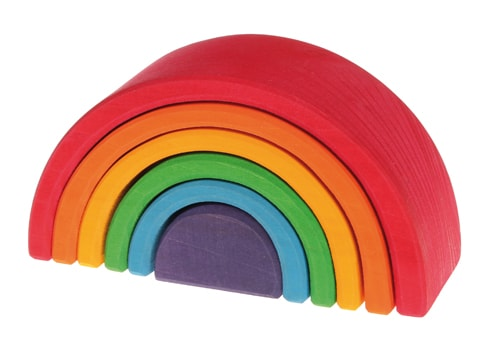 Element - Medium Rainbow by Grimm's Organic Cotton Toddler Kids Clothes from Modern Rascals