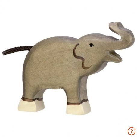 Elephant, Small with Trunk Raised