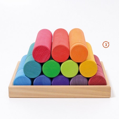 Building Rollers, Rainbow Large 25 pcs