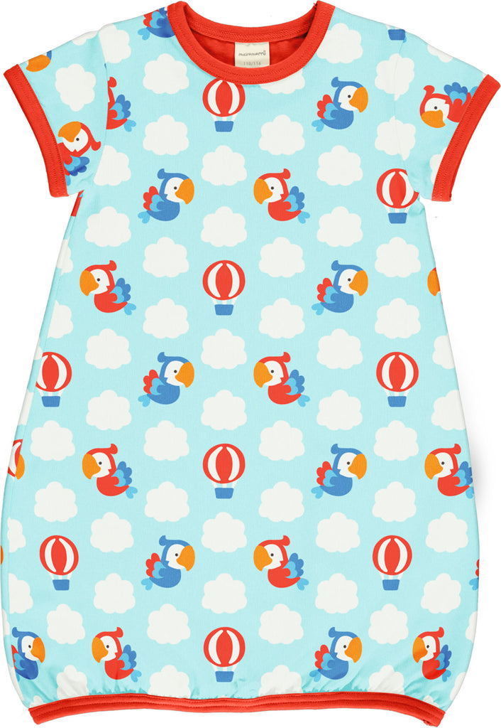 Parrot Safari Short Sleeve Balloon Dress - 2 Left Size 4-6 & 8-10 years
