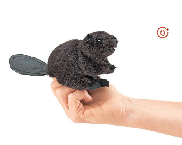 Mini Beaver Finger Puppet