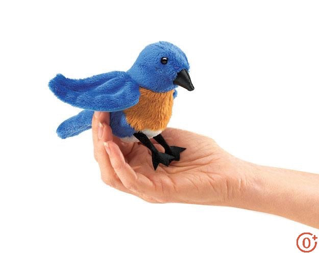 Mini Bluebird Finger Puppet