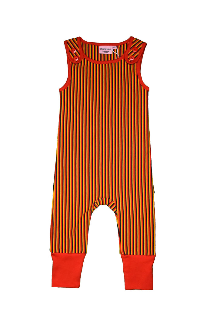 Black Red Yellow Striped Playsuit