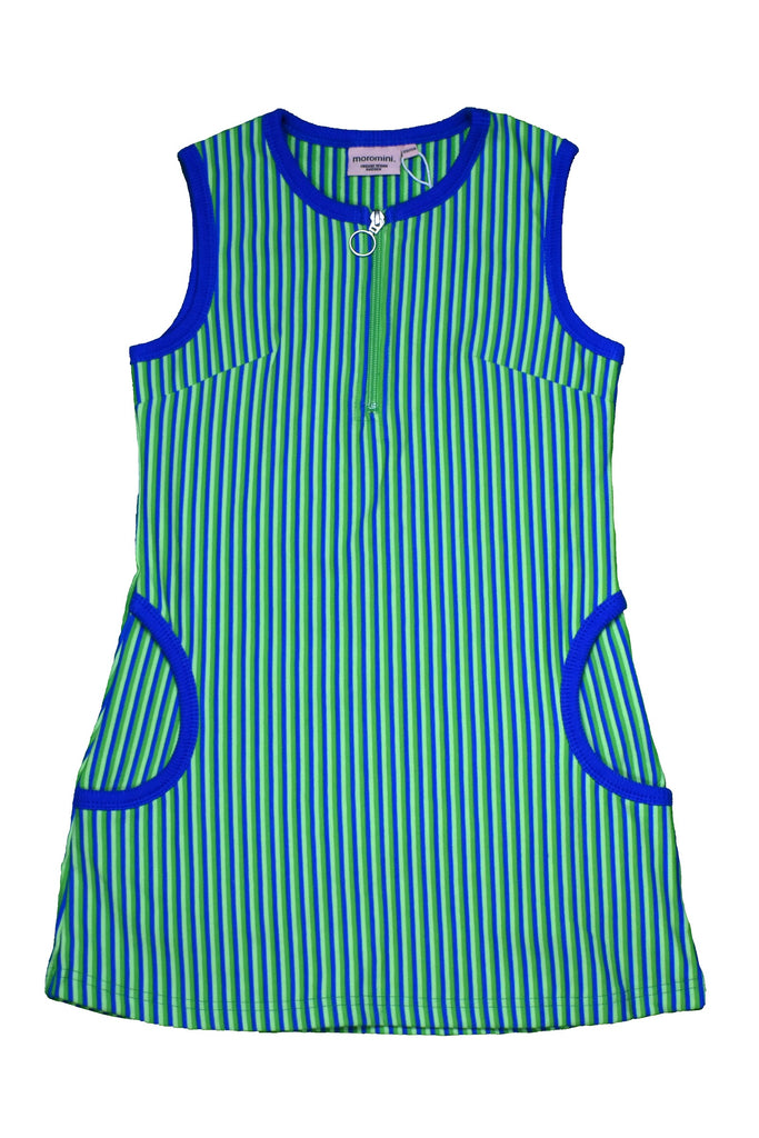 Blue Green Striped Twiggy Dress