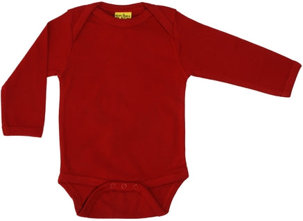 Pompeian Red Long Sleeve Onesie