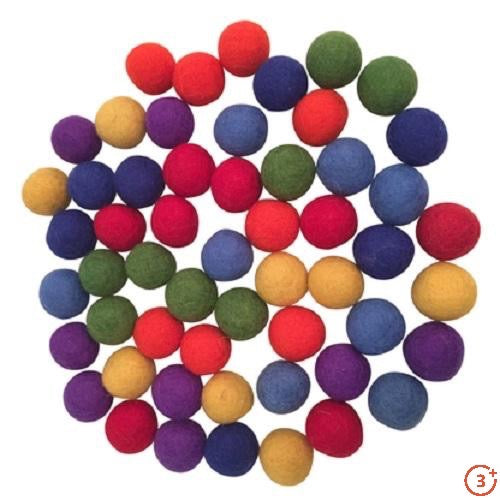 Rainbow Balls - 49 pieces