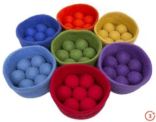 Rainbow Balls and Bowl Set