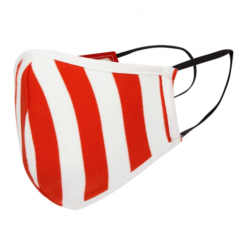 Red and White Striped Adult's Non-Medical Face Mask