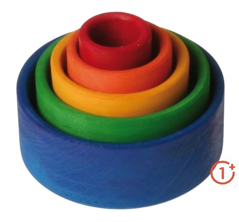 Rainbow Stacking Bowls - Blue Outside