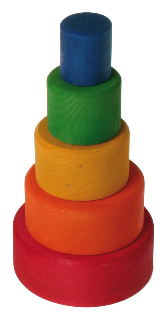 Rainbow Stacking Bowls - Red Outside