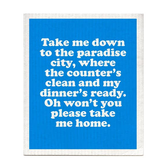 Take Me Down to Paradise City Swedish Dishcloth
