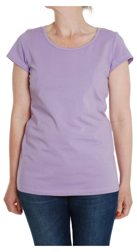 Adult's Medium Violet Short Sleeve Shirt