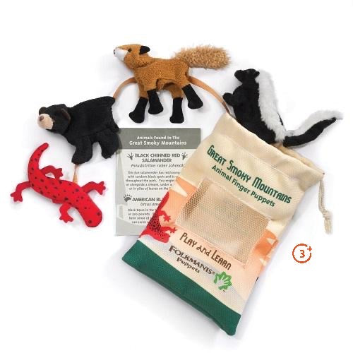 Smoky Mountain Animals Finger Puppet Set of 4