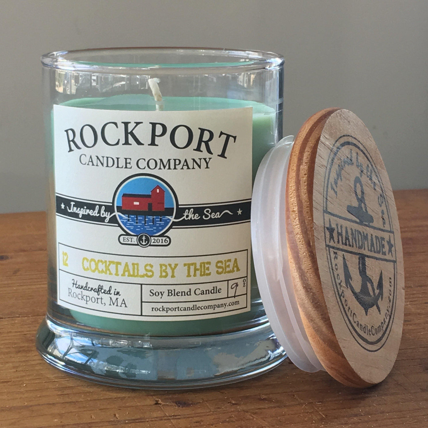 12 Cocktails by the Sea Candle Rockport Candle Company