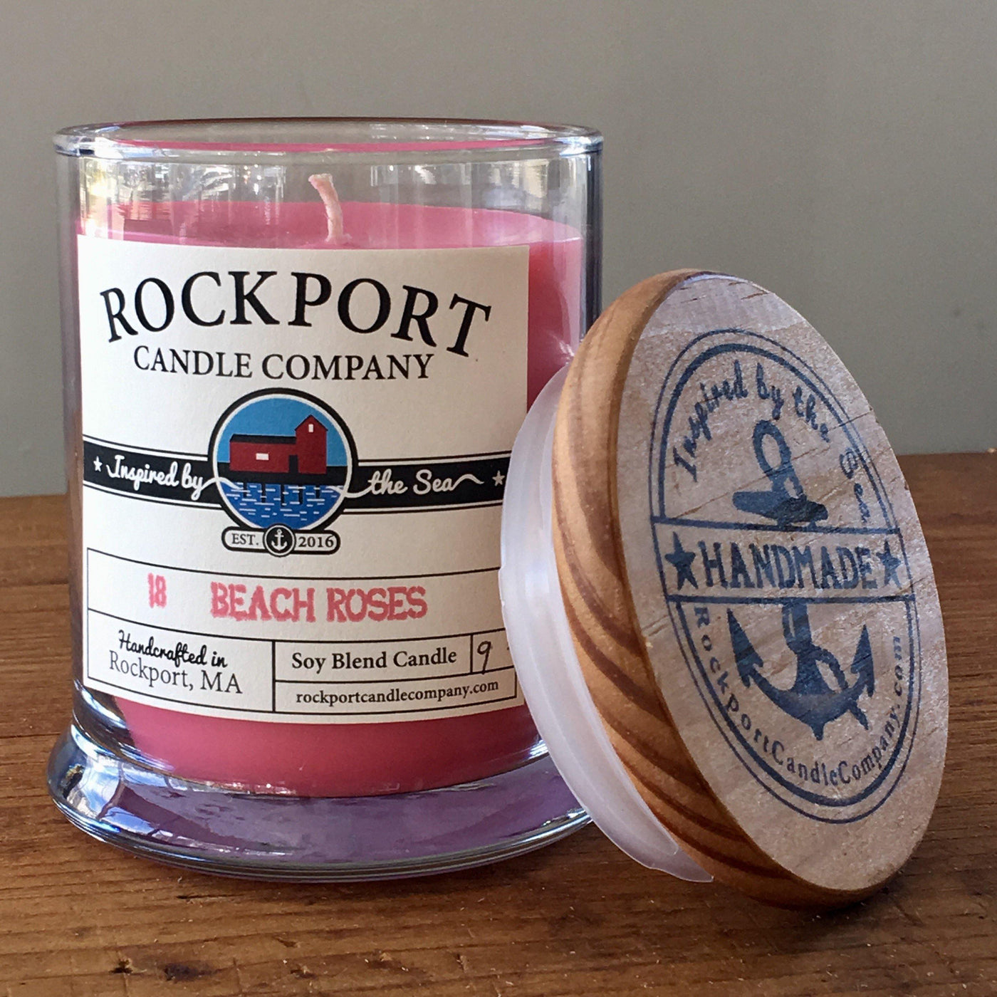 18 Beach Roses Candle Rockport Candle Company